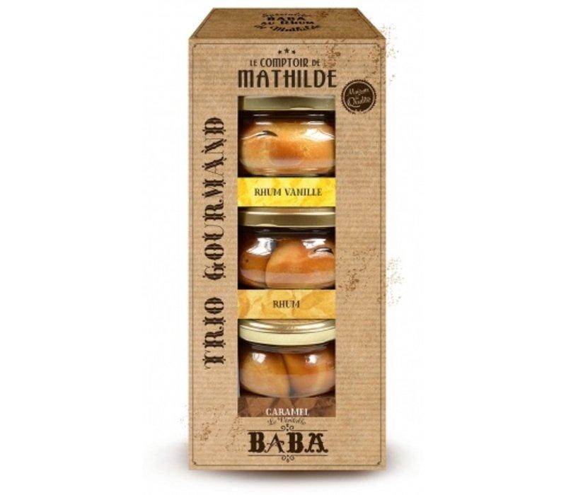 Babas Trio Gourmand 12% 110ml Rhum, Rhum vanille, Rhum caramel 6st