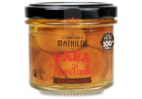 Le Comptoir de Mathilde Baba 12%  rhum vanille x 5 - 100g 12st