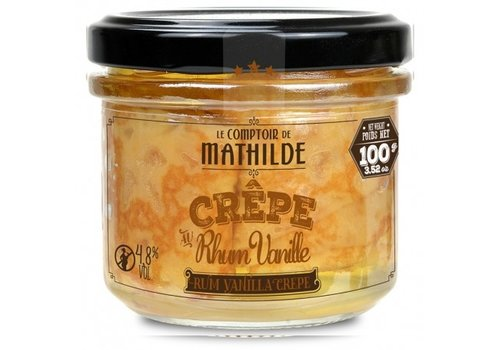 Le Comptoir de Mathilde Crepe 4,8% rhum vanille x 2 - 100g 12st