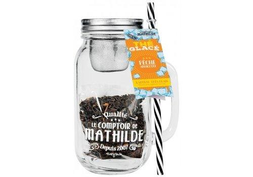 Le Comptoir de Mathilde Thés Glacés Fraise vanillée  + Mason jar 50g 6st