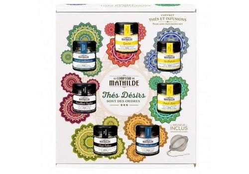 Le Comptoir de Mathilde Coffret thés et infusion 7 mini pots 6st