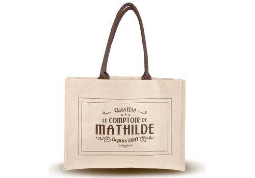 Le Comptoir de Mathilde Sac shopping jute et coton 50st