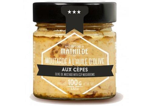 Le Comptoir de Mathilde Moutarde Cèpes 100g 12st