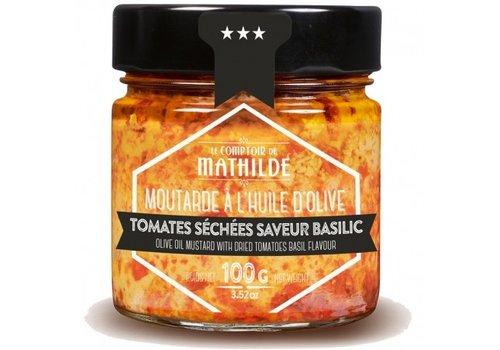 Le Comptoir de Mathilde Moutarde Tomates séchées saveur basilic 100g 12st