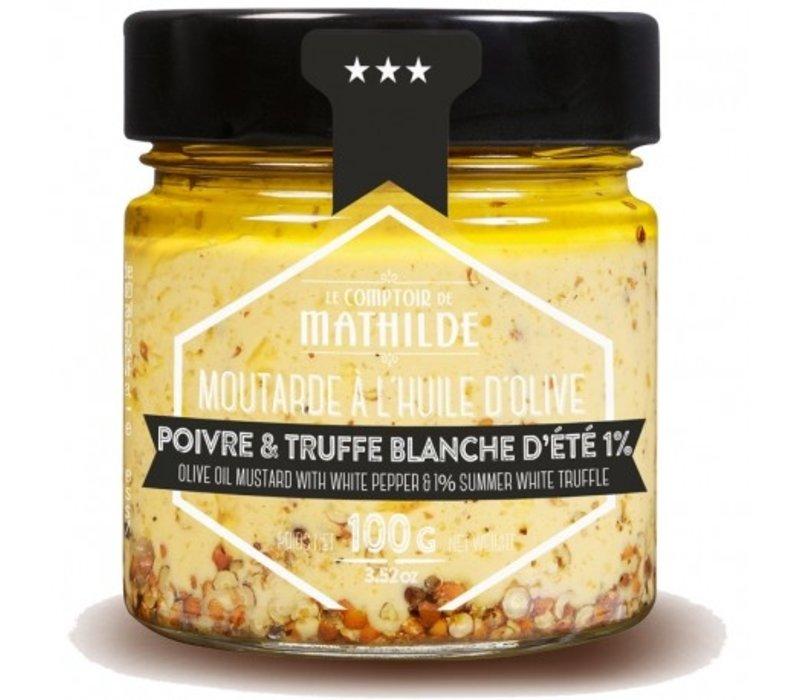 Moutarde Poivre blanc & Truffe blanche 100g 12st
