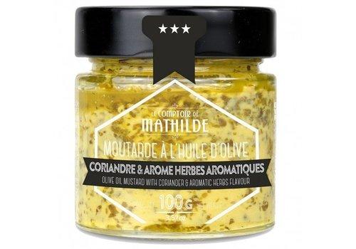 Le Comptoir de Mathilde Moutarde coriandre at aromles herbes aromatiques 100g 12st