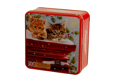 Grandma's Wild Embossed Kittens on a Postbox Tin 160g 6st