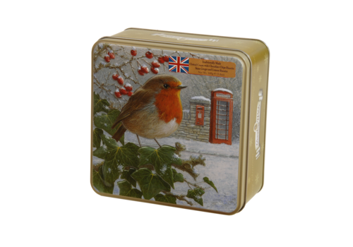Grandma Wild's Embossed Robin with Telephone & Postbox Tin 160g 6st