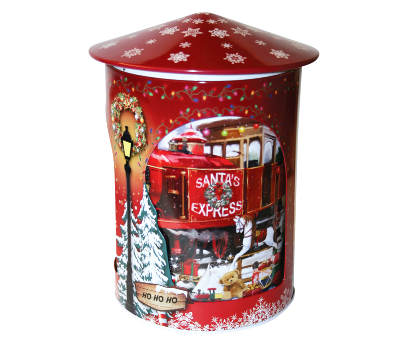 Rotating Santa's Express Musical Tin 200g 6st