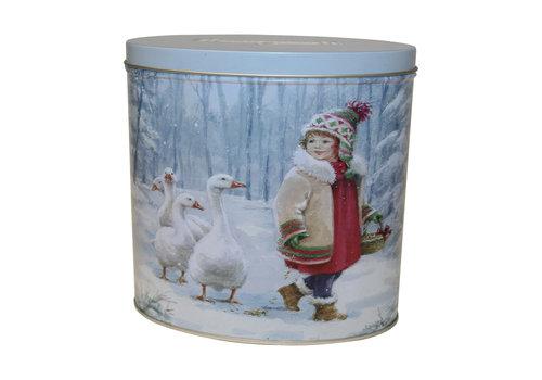 Grandma Wild's Embossed Oval Girl & Goose Tin 300g 6st