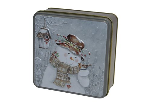 Grandma Wild's Embossed Snowman with Robin Tin 100g 12st