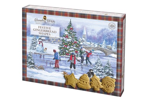 Grandma's Wild Gingerbread Festive Shapes Gift Box 175g 12st