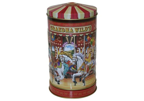 Grandma Wild's Small Embossed Nostalgic Carousel Tin 150g 6st