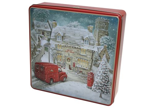 Grandma's Wild Embossed Winter Village Tin 400g 6st