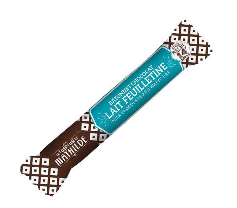 Batonnets chocolat Lait feuilletine 14g 40st