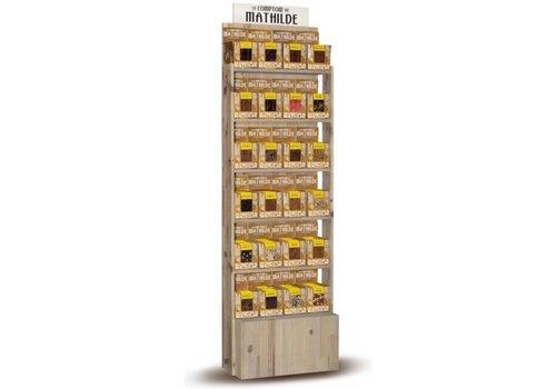 Le Comptoir de Mathilde Présentoir 24 tablettes chocolat 80gr