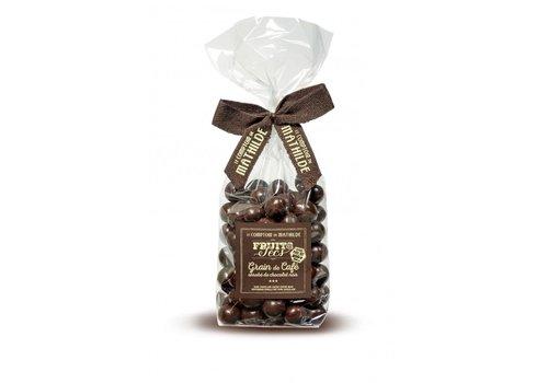 Le Comptoir de Mathilde Grain de Café Enrobé de Chocolat Noir 200g 12st