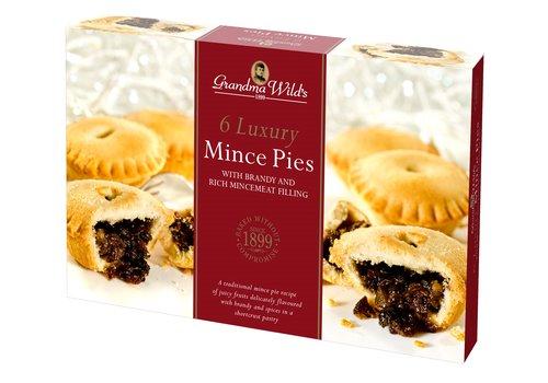 Grandma Wild's Luxery Deep Brandy Mince Pies 6pcs 12st