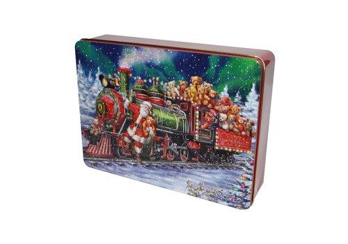 Grandma Wild's Santa Train with Teddies Tin 300g 6bl.
