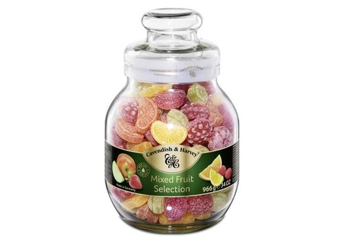 Cavendish & Harvey Cavendisch & Harvey Fruit candies 966g bokaal 6st