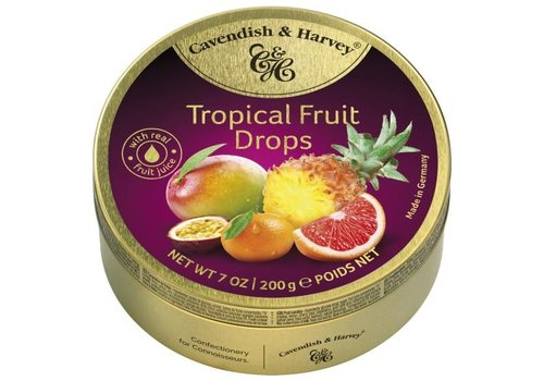 Cavendish & Harvey Cavendish & Harvey  Tropical Fruit Drops 200g 9st