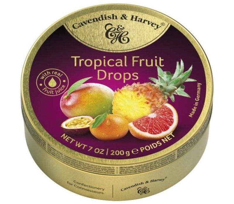 Cavendish & Harvey  Tropical Fruit Drops 200g 9st