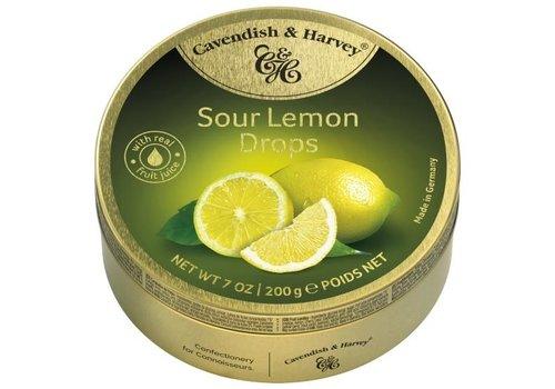 Cavendish & Harvey Cavendish & Harvey Sour Lemon Drops 200g 9st