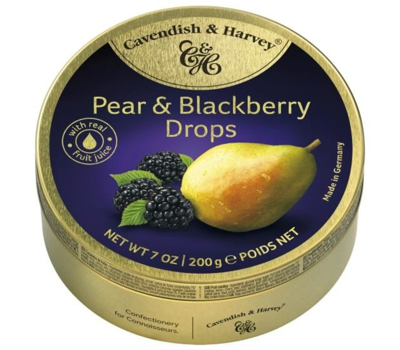 Cavendish & Harvey  Pear & Blackberry Drops 200g 9st