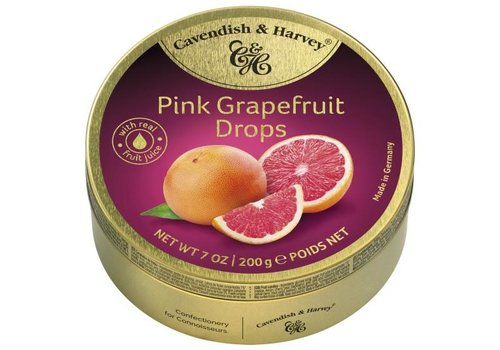 Cavendish & Harvey C&H Pink Grapefruit 200g 9st