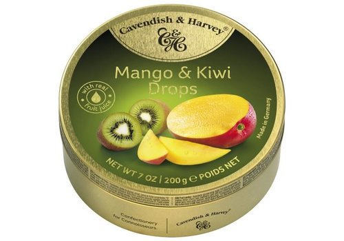 Cavendish & Harvey C&H Mango & Kiwi Drops 200g 9st
