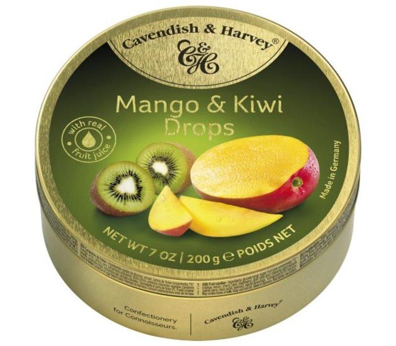 C&H Mango & Kiwi Drops 200g 9st
