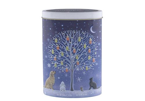 Gardiners of Scotland Tree of Xmas Gifts Clotted cream fudge tin 250g 12bl.