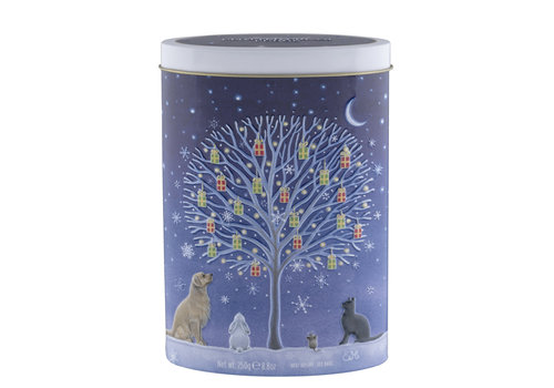Gardiners Tree of Xmas Gifts Clotted cream fudge tin 250g 12bl.