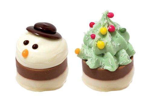 Sneeuwpop cupje / Kerstboom cupje 18g 1,1kg