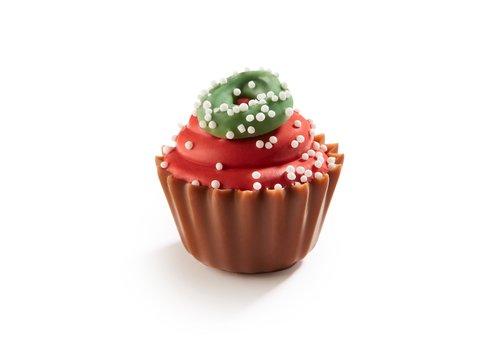 Kerst Cupcake rood frambozen ganache 20g 1kg