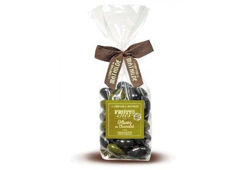 Le Comptoir de Mathilde Olive en Chocolat (Amandes Enrobées) 200g 12st