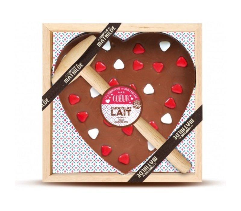 Chocolats a Casser Cœur à partager Lait 300g 4st