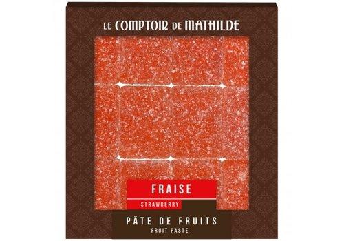 Le Comptoir de Mathilde Pate de Fruits 108g Fraise 12st