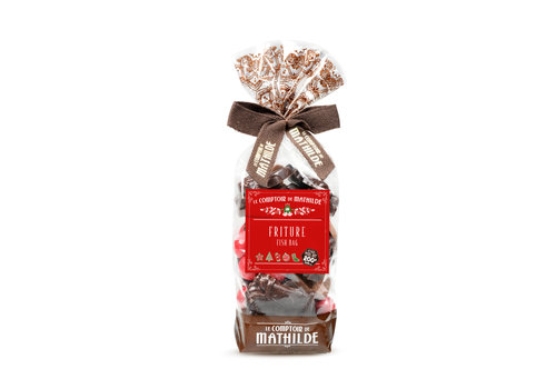 Le Comptoir de Mathilde Noel Friture de Noel 2 chocolats et perles petillantes 200g 12st