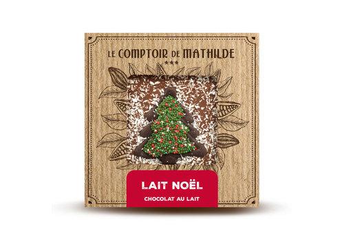 Le Comptoir de Mathilde Noel Tablette lait 80g 12st