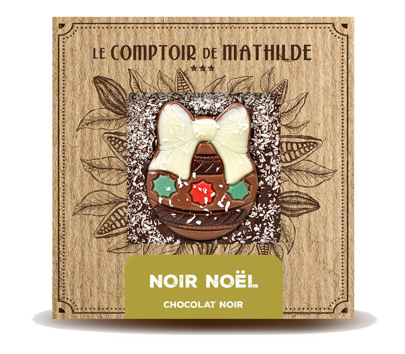 Noel Tablette Noir 80g 12st