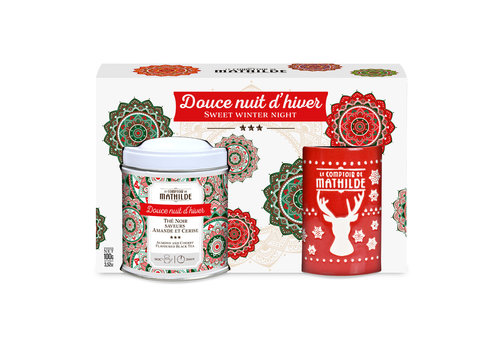 Le Comptoir de Mathilde Noel COFFRET THE + MUG EDITION  NOEL ASSORTIMENT 100G 6st