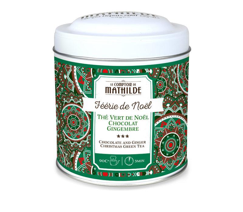 Noel Thé vert de Noel chocolat gingembre 100g 12st