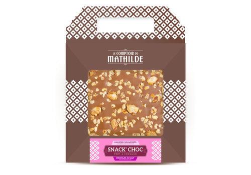 Le Comptoir de Mathilde SNACK CHOC LAIT AMANDES CARAMELISEES 200G 6st