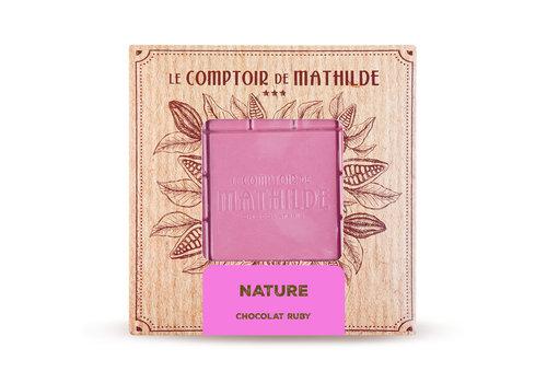 Le Comptoir de Mathilde TABLETTE CHOCOLAT RUBY NATURE 80G 12st