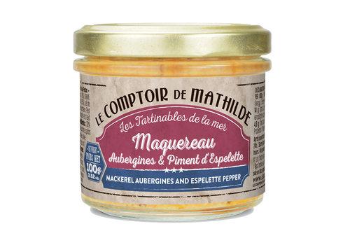Le Comptoir de Mathilde MAQUEREAU AUBERGINES FETA ESPELETTE 100G 12st