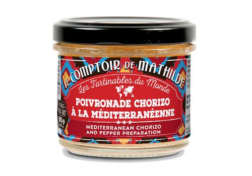 Le Comptoir de Mathilde POIVRONADE CHORIZO A LA MEDITERRENEENNE 90G 12st