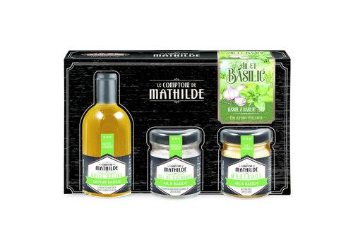Le Comptoir de Mathilde COFFRET DECOUVERTE AIL ET BASILIC 5CL+35G+30G 6st