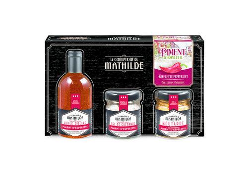 Le Comptoir de Mathilde COFFRET DECOUVERTE PIMENT D'ESPELETTE 5CL+35G+30G 6st