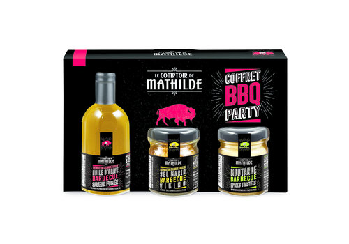 Le Comptoir de Mathilde COFFRET DECOUVERTE BBQ PARTY 5CL+30G+35G 6st